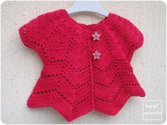 New version of gilet pétales (free pattern) ! Crochet Bolero, Cardigan Au Crochet, Pull Crochet, Crochet Gloves Pattern, Learn To Crochet, Free Crochet, Knit Crochet, Bag Patterns To Sew, Baby Knitting Patterns