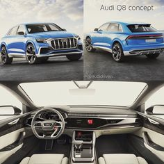 Audi Q7 or rather Q8? -- NEW #AudiQ8 concept from Detroit Auto Show #naias ---- oooo #audidriven - what else edit @audidriven pics Audi ---- #Audi #Q8 #AudiQ #AudiSUV #quattro #4rings #audidesign #marclichte #audidetroit #naias2017 #detroit #audiled #audiconcept #blueaudi