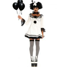 [Halloween Costumes Women] Leg Avenue Women's 3 Pc Pierrot Clown Halloween Costume, White/Black, Medium/Large >>> You can find more details by visiting the image link. (This is an affiliate link) Costume Ringmaster, Cute Clown Costume, Rave Halloween Costumes, Clown Costume Women, Halloween Circus, Game Costumes, Vintage Halloween, Costume Ideas, Halloween Party