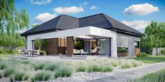 DOM.PL™ - Projekt domu CPT HomeKONCEPT-31 CE - DOM CP1-34 - gotowy koszt budowy Villa Design, House Design, House Construction Plan, Facade House, Bungalow, Layout, Outdoor Decor, Home Decor, House 2