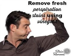 Vinegar is a great natural remedy for removing fresh perspiration stains #ad
