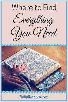 Do you need hope, strength, comfort, understanding, or relief from anxiety and depression- In the book of PSALMS you can find everything you need.