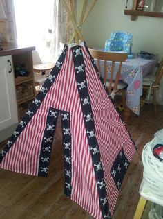 Childs pirate play tent arrggh by SewBloominCrafty on Etsy £75.00 & Custom monogrammed teepee in a fun bird cage pattern and custom ...