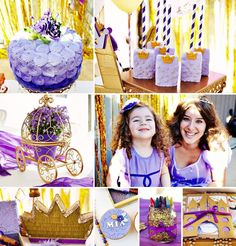 This Magical Princess Sophia the First Birthday Party from MLC Event Planning is brimming with sparkly, playful details! Check out the giant paper flower backdrop, gold duct tape letters
