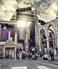 Entrance for Souq Al Hamidiyya - Damascus