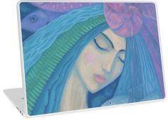 """""""The Pearl, Mermaid Princess, underwater fantasy art"""" Laptop Skins by clipsocallipso 
