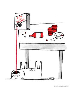 an experimental animated gif from Gemma Correll.