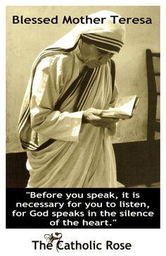 Silence is God's language..