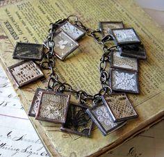 Lace pendant bracelet
