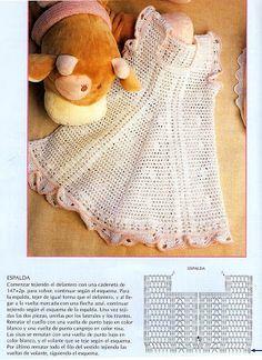 Girl dress with diagram, filet work