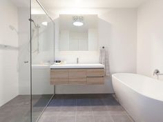 Another example of oak vanity for au pai bathroom. polytec doors in RAVINE Natural Oak Oak Bathroom Vanity, Bathroom Renos, Laundry In Bathroom, Bathroom Inspo, Bathroom Layout, Bathroom Colors, Bathroom Interior Design, Bathroom Renovations, Home Interior