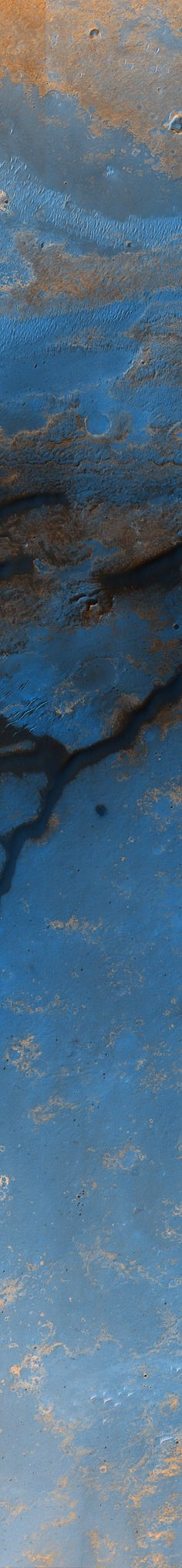 Dune Field in East Endeavour Crater, variant | Stuart Rankin, Edited Mars Reconnaissance Orbiter