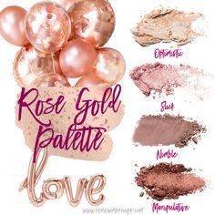 Rose Gold Palette - Younique Quad Palette Pressed Shadows
