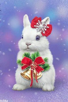 Christmas Items, Merry Christmas, Good Morning Flowers, Christmas Wallpaper, Christmas Pictures, Yule, Winter, Bunny Rabbits, Prints