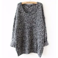 Oversized Sweater Autumn winter sweaters women pull femme knitwear long sleeve o-neck long pullover 2016 tricot kerst trui knit - Shops Hive