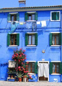 Burano, Italy - Italian Laundry!