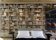 Amazing Wooden Wall Bookshlef With Storage End Drawers, Fascinating Bookshelf Design Ideas For Bedroom : Furniture
