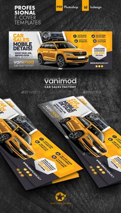 Buy Car Sales Cover Templates by grafilker on GraphicRiver. Car Sales Cover Templates Fully layered INDD Fully layered PSD 300 Dpi, CMYK IDML format open Indesign or later C. Car Banner, Best Banner, Banner Design, Layout Design, Web Design, Cover Template, Layout Template, Free Banner Templates, Instagram Promotion