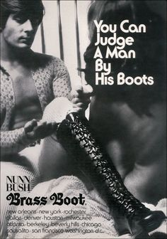 Judge a man by his boots!