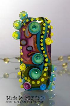 Garden of Love  Art Glass Bead by Michou P. by michoudesign, $89.00