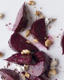 Blue cheese and beet salad