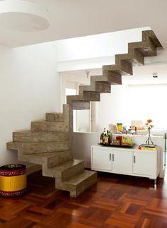 Decoração: Cimento como revestimento e estrutura - Roberto Freitas - meionorte.com