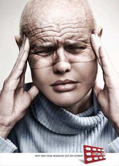 Headache health creative print ad