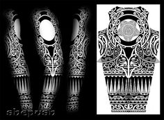 Tribal full sleeve design by shepush.deviantart.com on @DeviantArt