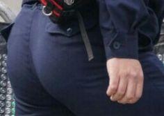 本当に可愛い若手警察官のお尻