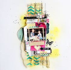 #papercraft #scrapbook #layout.  Welcome to Eb's Space since this is a skinnier layout, it would translate to a smash book layout nicely