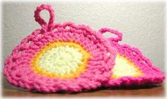 アクリルたわしの作り方と編み図