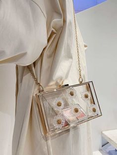 Aesthetic Bags, Cream Aesthetic, Fashion Bags, Fashion Accessories, Best Designer Bags, Transparent Bag, Accesorios Casual, Cute Backpacks, Cute Purses