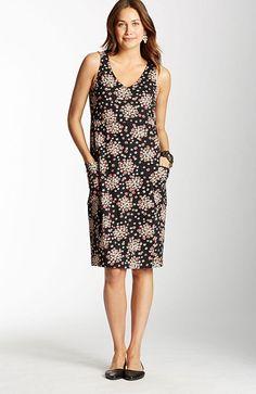 Floral V-neck knit dress