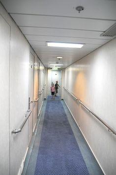 Finnish ferryboat hallways on board