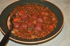 """German lentil soup is a traditional German soup that is easy to make. We call these soups """"Eintopf"""": everything is cooked in one pot. Original German recipe."""