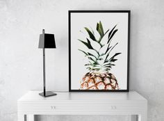 Pineapple Print Tropical Print Pineapple Poster Pineapple
