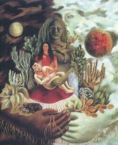 The Love Embrace of the Universe, the Earth (Mexico), Myself, Diego and Señor Xólotl -1949
