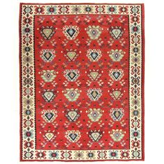 Vintage Turkish Kilim | Sarkoy Kilim | Wool Turkish Carpet - $1650.