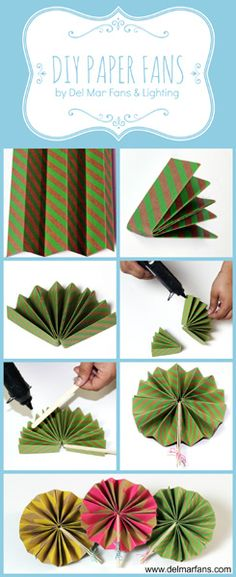 How to Make Paper Fans for Summer