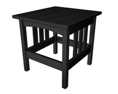 POLYWOOD Mission 22Inch by 24Inch Side Table Black ** This is an Amazon Associate's Pin. Detailed information can be found on Amazon website by clicking  the VISIT button.