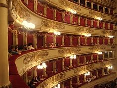 Teatro Alla Scala in Milan, Italy.  So wish i could have seen it.