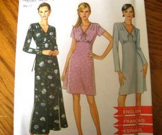 SIMPLICITY NEW LOOK SEWING PATTERN - 6539 - DRESS W/ HIGH EMPIRE WAIST- WOMEN 6-16