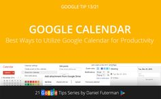Tip 13/21: Google Calendar – All In One.Share calendars, manage events, join g+ hangouts, add national holidays, add tasks, access offline, set meeting across time zones, show weather, add maps, Google now integration… Maintaining an organized calendar is extremely important for productivity, time management, organization and so much more. Google Calendar does the best job at syncing it all together and presenting it to you in the most logical way.