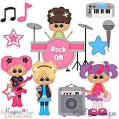 Girls Rock SVG Cutting Files + Clipart