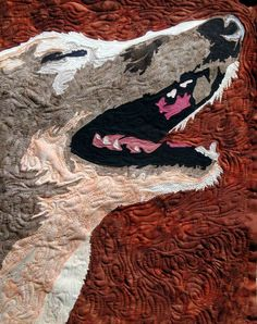 #When A Greyhound Laughs (art quilt)  Copyright #Beth Wade Design 2012 s941. Photo kept.com
