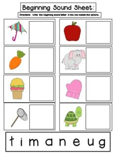 Free! Beginning Sound Picture Match A to Z fun! Repinned by SOS Inc. Resources. Follow all our boards at pinterest.com/sostherapy for therapy resources.