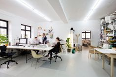 German designer, Sebastian Herkner's work space