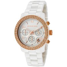 ba00f0ed6 (Limited Supply) Click Image Above: Michael Kors Women's Chronograph White  Crystal White Ceramic Watch