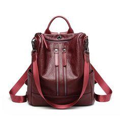 6aeb06905bab2 Women Backpack for School Style Leather Bag For College Design Women Casual  Daypacks mochila Female kanken Mochila Feminina