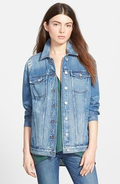 Madewell Oversize Denim Jacket available at #Nordstrom